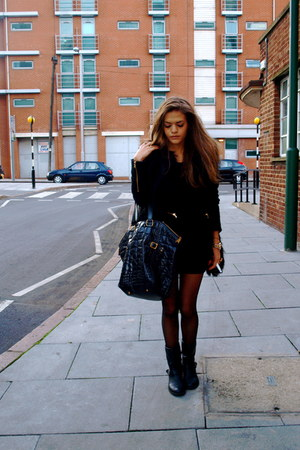 Zara jacket - H&M boots - Zara coat - YSL bag
