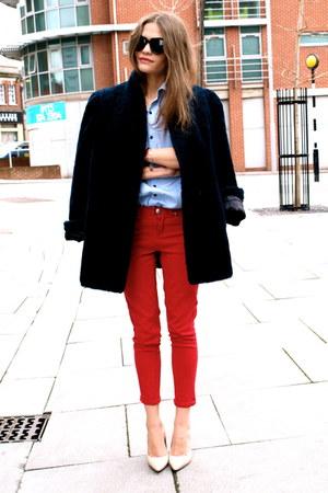 vintage coat - Reiss shirt