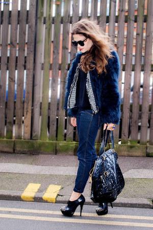 Kurt Geiger heels - Wrangler jeans - Zara jacket - YSL bag