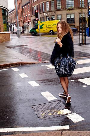 Yves Saint Laurent bag - Converse sneakers - H&M jumper
