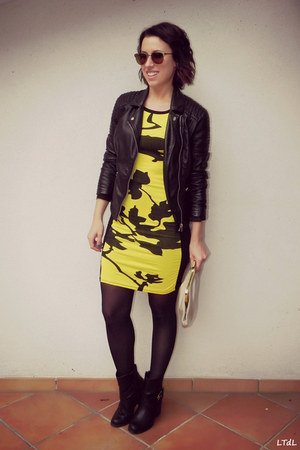 black Pimkie jacket - OASAP dress