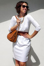White-oasap-dress-tawny-faux-leather-carpisa-bag