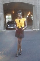 black H&M dress - dark gray Sam Edleman shoes - mustard H&M jacket