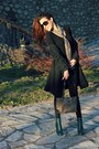 Forest-green-h-m-boots-scarf-rosetti-bag-black-gucci-sunglasses