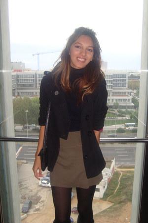 Topshop jacket - American Apparel skirt - blouse