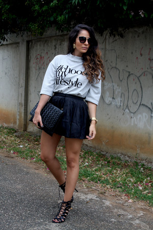 Stradivarius sweater - Mecca bag - Mecca shorts - Michael Kors watch