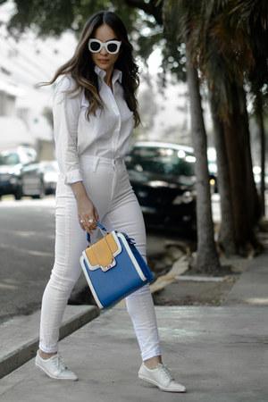 Mecca shirt - Elize bag - Quay Australia sunglasses - Laulet sneakers