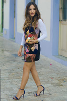 Mecca dress - Schutz heels - Elize belt