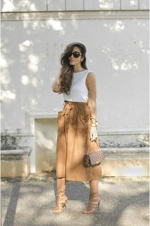 Mecca skirt - Louis Vuitton bag - Schutz heels - Mecca top