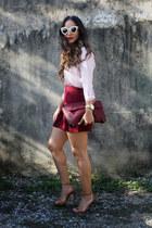 Stradivarius blouse - Stradivarius bag - Dolce & Gabbana sunglasses