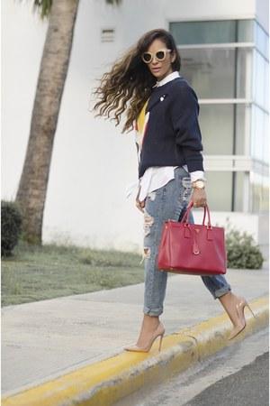 Christian Louboutin shoes - Mecca jeans - Prada bag