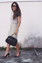 Mecca skirt - Cole Haan bag - Prada sunglasses - Mecca blouse