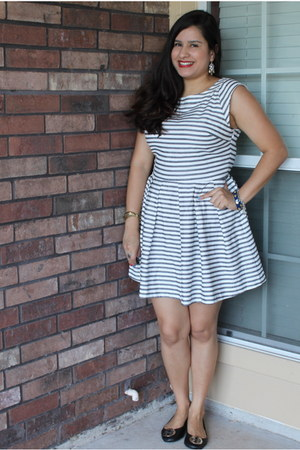 stripes Rampage dress - ballet tory burch flats