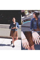 asos ring - H&M shoes - cotton on dress - cotton on jacket
