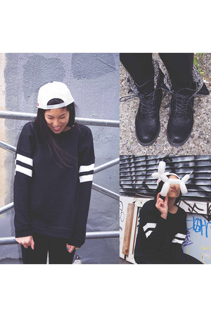 Forever 21 bracelet - 2020AVE boots - new era hat - cotton on leggings