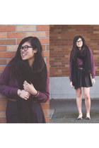 asos shirt - cotton on scarf - asos skirt - Office flats - Forever 21 bracelet