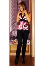 Hot-pink-new-yorker-shirt-navy-unknown-brand-jeans-brown-unknown-brand-shoes