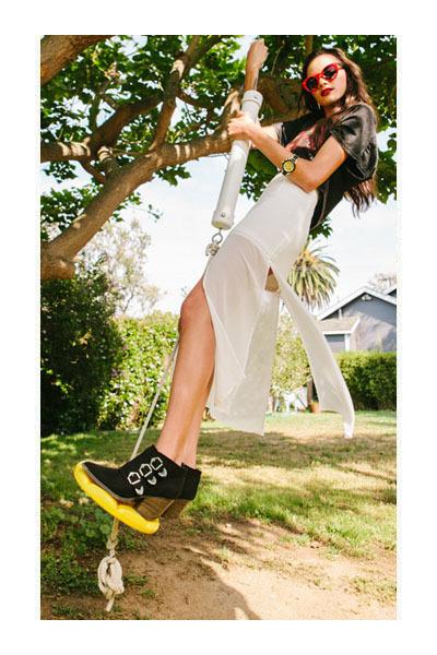 skirt - boots - bag - sunglasses - watch - top
