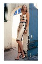 ring - necklace - heels - metallic skirt skirt - bracelet - top