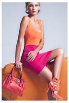 ring - dress - bag - bracelet - heels