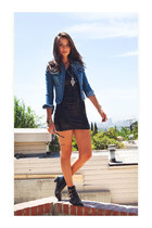 jacket - boots - dress - necklace - tribal hinge bracelet - spiked ring