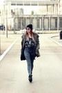 Primadonna-boots-zara-coat-asos-jeans-new-yorker-hat