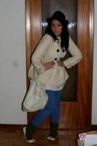 H&M hat - Zara coat - Zara jeans -