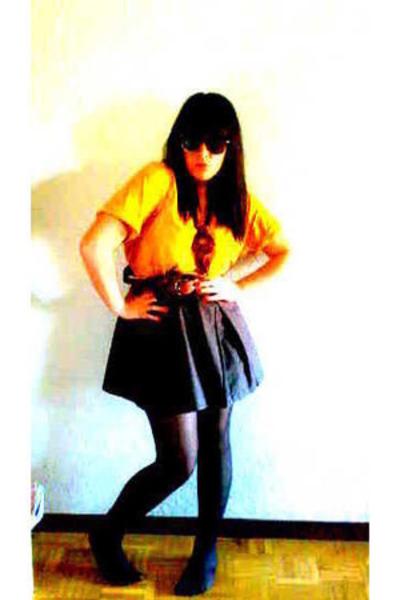 Springfield shirt - Bershka skirt - H&M panties