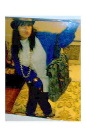 vintage jacket - blouse - hat