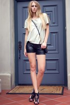 Fashion Mic Faux Leather Shorts