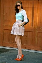 light brown stripes Bar III skirt