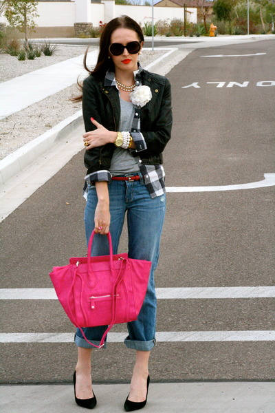 Hot Pink Purse Hot Pink Leather Springcart