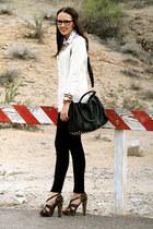 dark brown leopard Aldo Shoes pumps - black jegging True Religion jeans