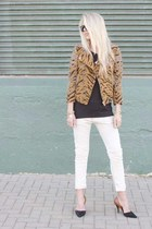 free people jacket - maison scotch jeans - vince shirt