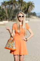 Hammitt LA bag - orange Halston Heritage dress