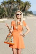 Hammitt LA bag - orange Halston Heritage dress