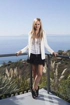 Juicy Couture skirt - Topshop blazer - Wildfox shirt - vera wang heels