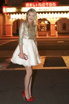 Alice  Olivia dress - ted baker bag - Alice  Olivia heels