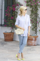 MIH Jeans shirt - RED valentino bag - zeroUV sunglasses - vince heels