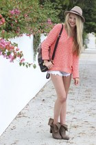 free people sweater - Jeffery Campbell boots - Urban Outfitters hat
