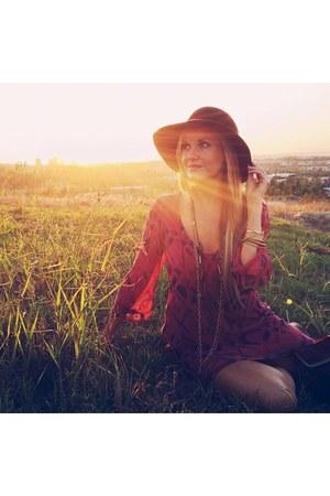 hat - sam edelman boots - Gypsy05 dress - Hammitt bag
