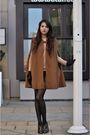 Brown-zara-coat-brown-armani-shoes