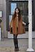 brown cape Zara coat - brown booties armani shoes