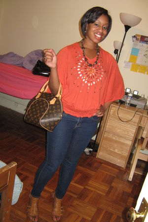 orange Arden B blouse - Spring shoes - jeans
