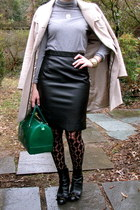 Forever 21 skirt - kate spade boots - Furla bag - JCrew top