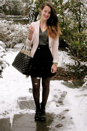 Zara blazer - JCrew tights - kate spade bag - kate spade heels