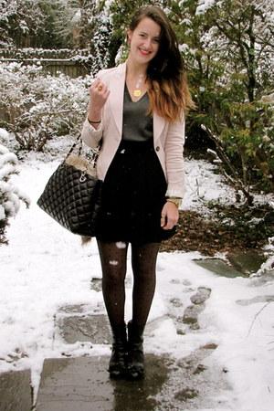 Zara blazer - JCrew tights - kate spade bag - kate spade heels