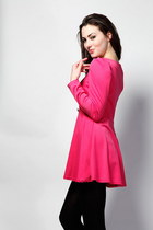 Puff-Sleeve Pink Dress
