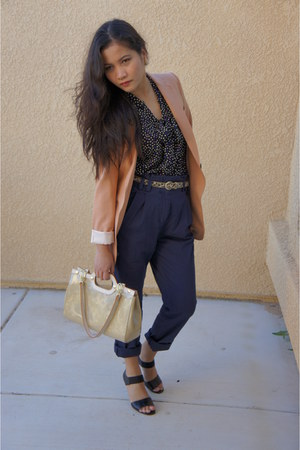 H&M blazer - H&M pants - polka dots I Love Ronson blouse