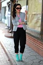 black jogger UME pants - black striped Whimsy Boutique blazer